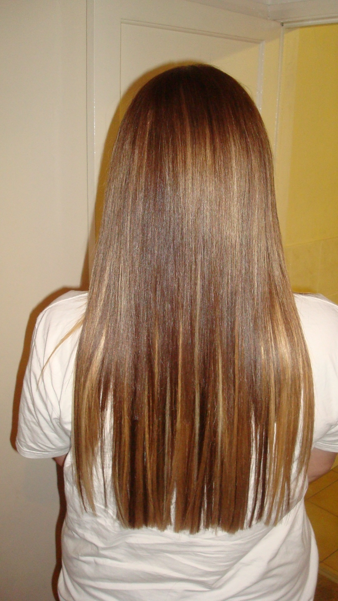 ... brown and blonde shades to match the clients dyed / highlighted hair
